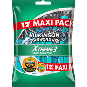 Wilkinson Rasoirs Masculin Jetables Xtreme 3 Pure Sensitive Wilkinson, X12