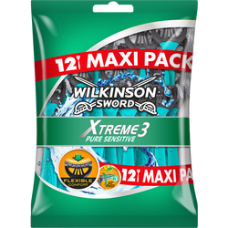 Rasoirs masculin jetables Xtreme 3 Pure Sensitive WILKINSON, x12