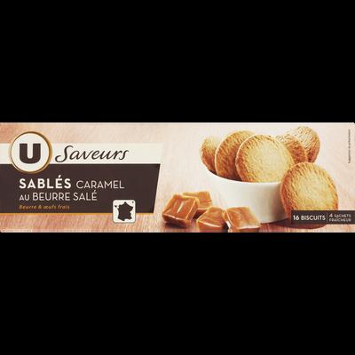 Sablés saveur caramel au beurre salé U SAVEURS, étui 120g