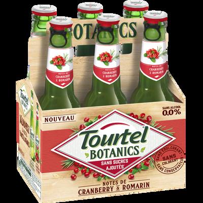 Bière sans alcool botanics cramberry 0° TOURTEL,  6x27,5cl