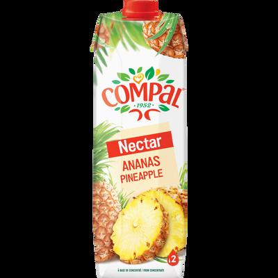 Jus ananas / nectar COMPAL, brique 1 litre