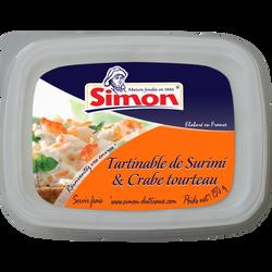 Tartinable de surimi et crabe tourteau SIMON DUTRIAUX, 150g