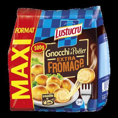 Gnocchi à poêler extra fromage LUSTUCRU, 500g Format Maxi