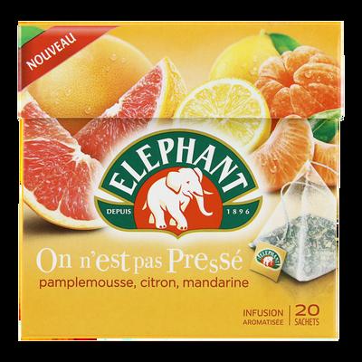 Infusion pamplemousse citron mandarine ELEPHANT, sachets x20, 38g