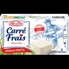 Elle & Vire Carre Frais Au Lait Pasteurisé, 15%mg, 8 Portions, , 200g