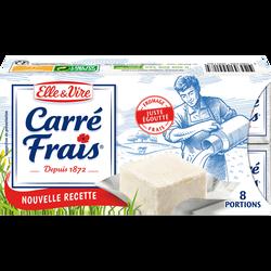 Fromage au lait pasteurisé 15% matière grasse ELLE ET VIRE CARRE FRAIS, 8x25g