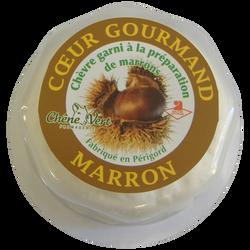 COEUR GOURMAND marron au lait de chèvre pasteurisé, 12% de MG, boite de 80g