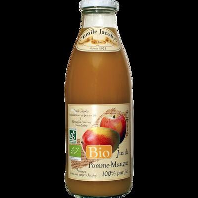Pur jus de pomme mangue BIO JACOBY, bouteille de 1l
