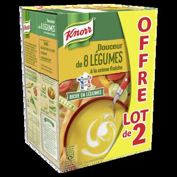 Knorr Douceur De 8 Légumes Knorr, 2 Briques De 1l