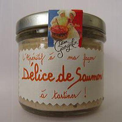Délice de saumon à tartiner, l'apéritif à ma façon, 100gr, bocal, Lucien Georgelin