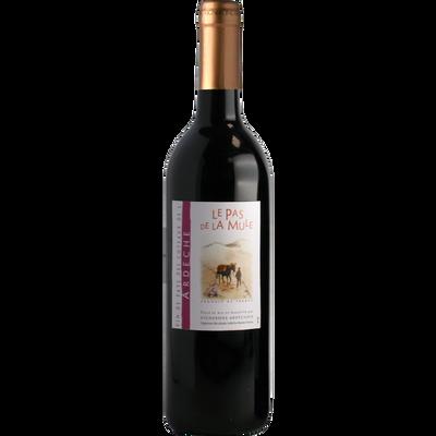 """Vin rouge de pays des Côteaux de l Ardèche """"Le Pas de La Mûle"""", 75cl"""