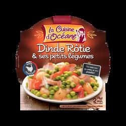 Dinde fermière aux 5 légumes printanniers LA CUISINE D'OCEANE, 300g
