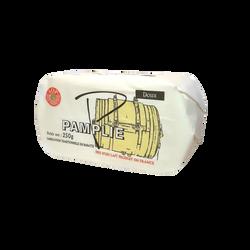 Beurre pasteurisé doux AOP moulé PAMPLI,E 250g