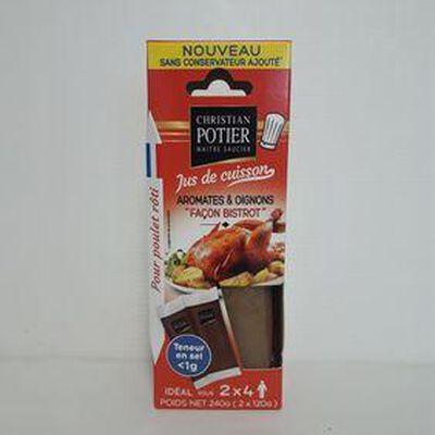 Sauce poulet  façon bistrot  CHRISTIAN POTIER sachets 2x120g