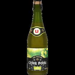 """Cidre """"Les Festifs"""" et poire U 2,5° bouteille verre 75cl"""