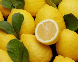 Citron jaune à feuilles, calibre 4/5, catégorie 1, Italie à la pièce