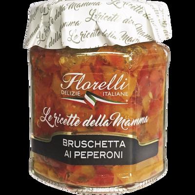 Sauce tartinable aux poivrons FLORELLI, 200g