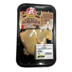 Barquette de 2 cuisses de poulet jaune fermier - LABEL ROUGE - MAIÎTRE COQ