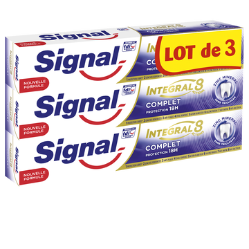 Signal Dentifrice Intégral Complet Signal, 3x75ml