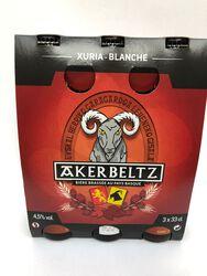 Bières AKERBELTZ Blanches 3*33cl