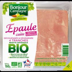 Epaule cuite découennée dégraissée BIO BONJOUR CAMPAGNE, paquet de 160g