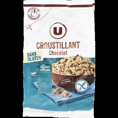 Croustillant chocolat sans gluten U, paquet de 375g