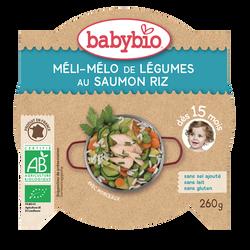 Assiette méli-mélo de légumes au saumon riz BABYBIO, dès 15 mois, 260g