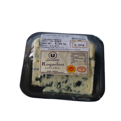 Roquefort AOP au lait cru de brebis U SAVEURS, 31%MG
