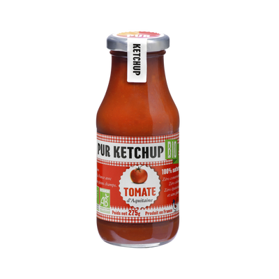 Ketchup de tomate d'Aquitaine PUR KETCHUP, bocal 275g