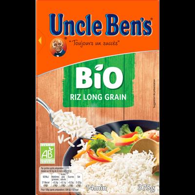 Riz long grain bio 14 minutes UNCLE BEN'S, vrac 375g