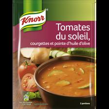 Soupe tomates du soleil, courgettes et pointe huile d'olive KNORR, 58g