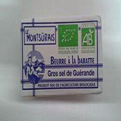 BEURRE A LA BARATTE AU GROS SEL DE GUERANDE 250g LE MONTSURAIS