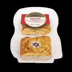 Feuilleté au bloc foie gras de canard et pommes au calvados SAPRESTI,2x110g