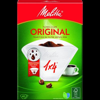 Filtres à café n°4 Grand Arôme MELITTA Original, 40 unités