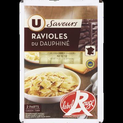Ravioles du Dauphiné Label Rouge U SAVEURS, 240g