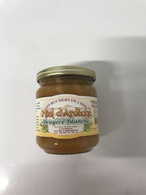 Miel d'Ardèche Bruyère blanche les ruchers de l'Ibie 500g