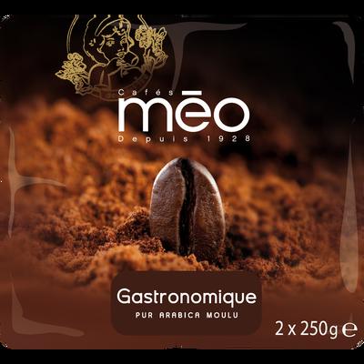 Café moulu gastronomique MEO, 2 paquets de 250g soit 500g