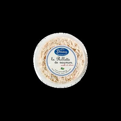 Rillette saumon aneth citron, France, barquette 160g