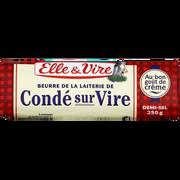 Elle & Vire Beurre Demi Sel De Laiterie De Condé Sur Vire Elle & Vire, 80%mg, 250g