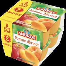 Dessert fruitier pomme/abricot ANDROS 8x100g dont 2 gratuits