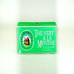 Thé Vert à la Menthe, LES 2 MARMOTTES, 45 g.