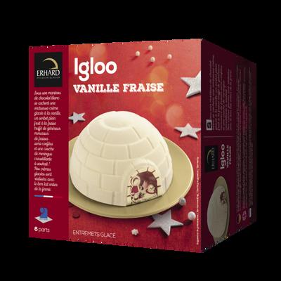 Glace igloo vanille et fraise ERHARD, 440g