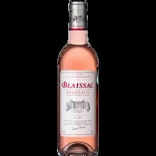 Vin rosé AOC Bordeaux Blaissac, bouteille de 75cl