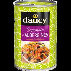 Caponata d'aubergines D'AUCY, boîte 1/2 de 375g