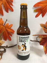 Kiss'Wing - Bière Ambrée Artisanale - Bio 33cl