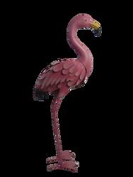 Cigogne et flamand rose décoratif en métal-2 modèles assortis : 39x19,5x85,5cm/36x18x89cm
