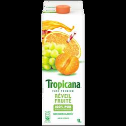 Pur jus réfrigéré orange mandarine raisin Réveil fruité TROPICANA, 1l