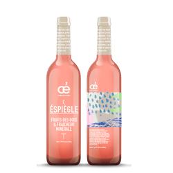 OE L'ESPIEGLE, Corbières AOC rosé, 2018, 75 cl, labels B Corp et AB, garanti sans trace de pesticides ni matière animale