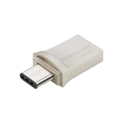 CLE USB TRANSCEND 16GO SILVER SERIE 890 USB 3.1 TYPE C