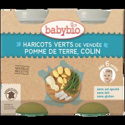 Pot pomme de terre Haricots verts de Vendée Colin BABYBIO, dès 6mois, 2x200g